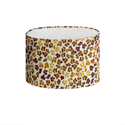 Leopard Skin Collection Drum Lamp Shade