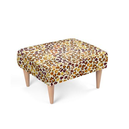 Leopard Skin Collection Footstool