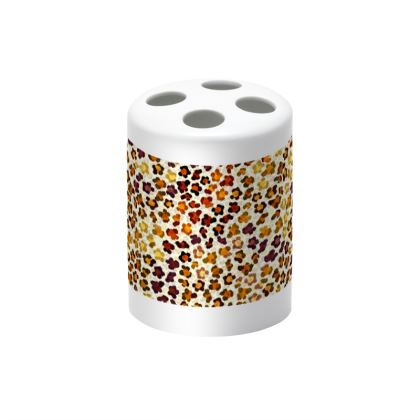 Leopard Skin Collection Toothbrush Holder