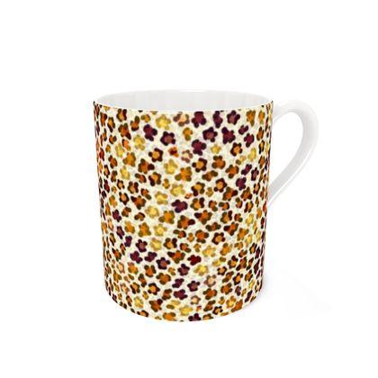 Leopard Skin Collection Bone China Mug