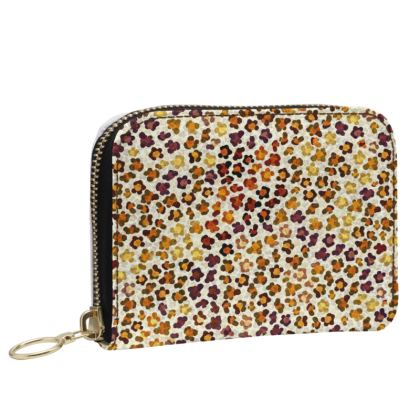 Leopard Skin Collection Small Leather Zip Purse