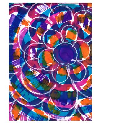 Expressive Floral Deckchair