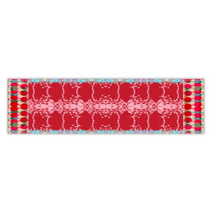 Red Teasel Table Runner