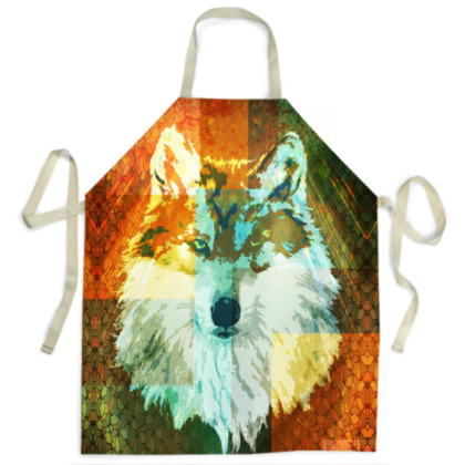 Mexican Grey Wolf Ladies Apron