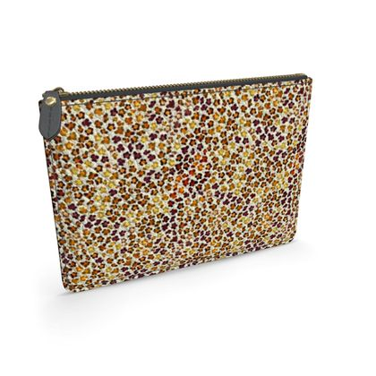 Leopard Skin Collection Leather Pouch