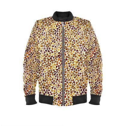 Leopard Skin Collection Mens Bomber Jacket