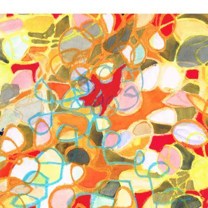 Pebble Mosaic Folding Stool Chair