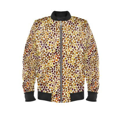 Leopard Skin Collection Ladies Bomber Jacket