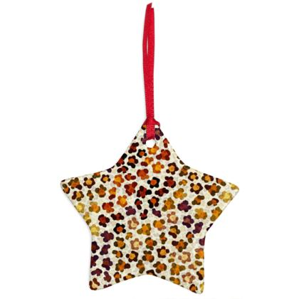 Leopard Skin Collection Christmas Ornaments