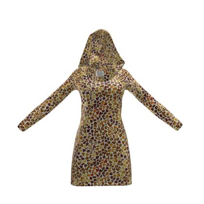Leopard Skin Collection Hoody Dress