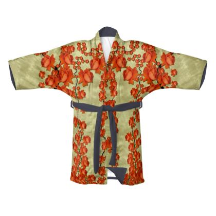 roses decorative Kimono
