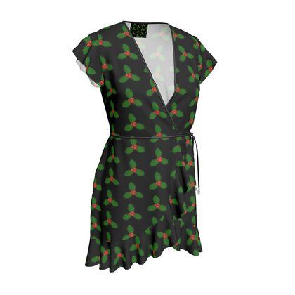 Holly Leaf Pattern Tea Dress