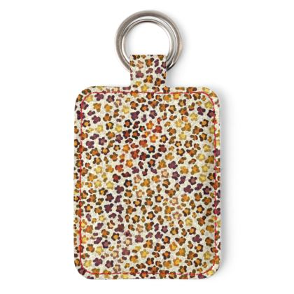 Leopard Skin Collection Leather Keyring