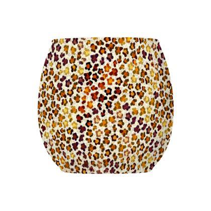 Leopard Skin Collection Glass Tealight Holder