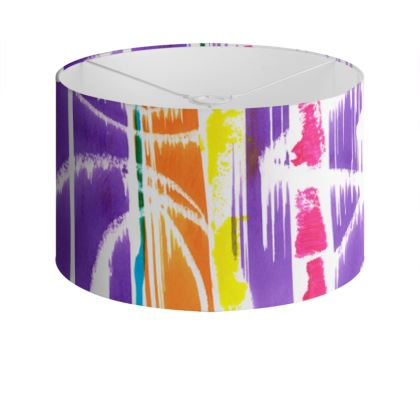 Zigzag Lines Drum Lamp Shade