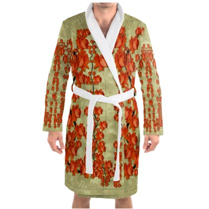 roses decorative Dressing Gown