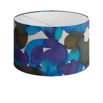 Dreamy watercolor Drum Lamp Shade