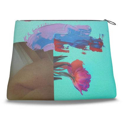 Abstract Floral Clutch Bag