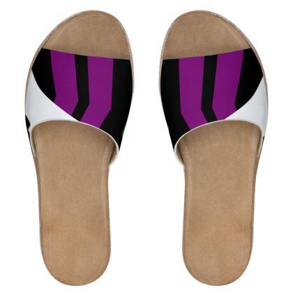 Women's Leather Sliders - Minimal 1