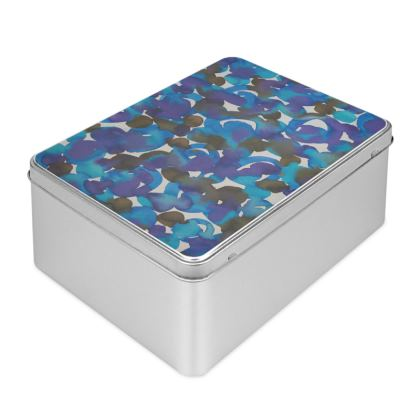 Dreamy Watercolor Biscuit Tin