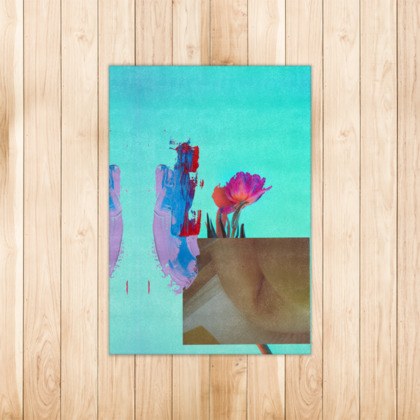 Abstract Nude Floral Rug