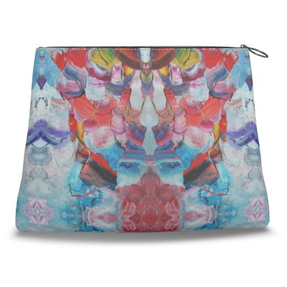 Abstraction Mirror Clutch Bag