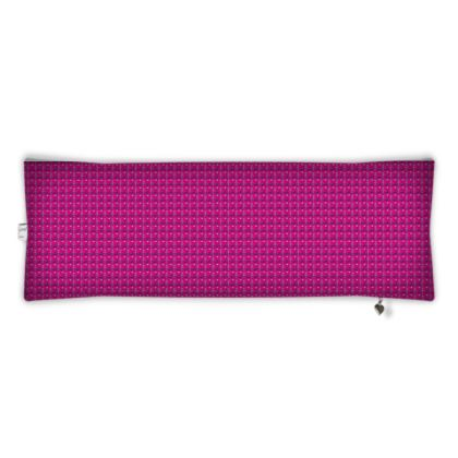 Nostalgic Pink Bolster Cushion