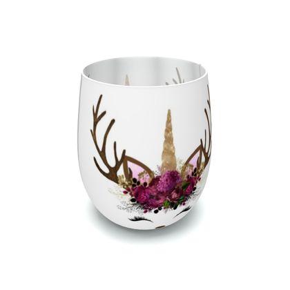 Unicorn Reindeer Antler Floral Lilac