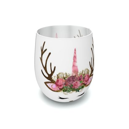 Unicorn Reindeer Antler Floral Pink