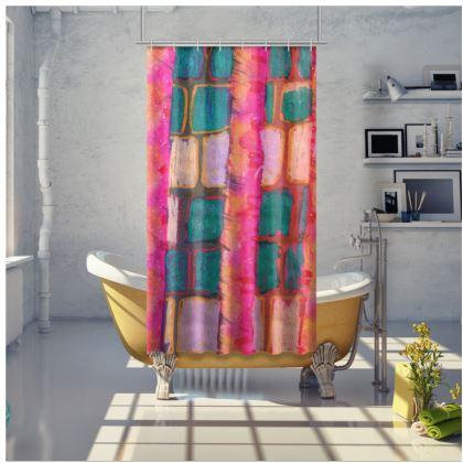 Blocks & Stripes Shower Curtain