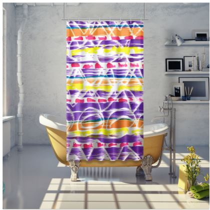 Zigzag Lines Shower Curtain
