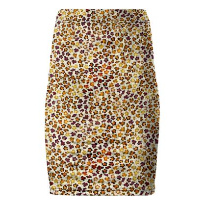 Leopard Skin Collection Pencil Skirt