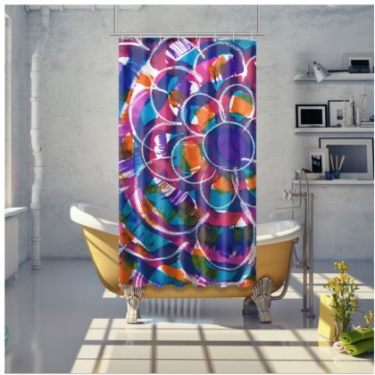 Expressive Floral Shower Curtain