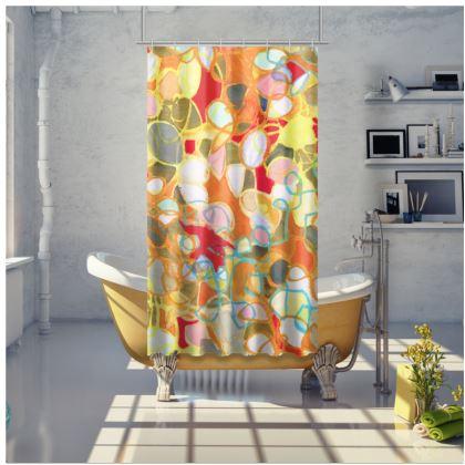 Pebble Mosaic Shower Curtain
