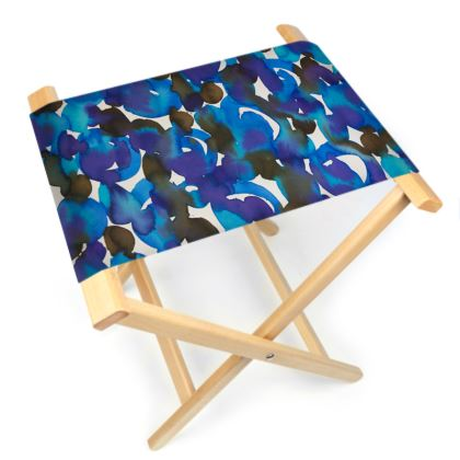 Dreamy Watercolour Folding Stool Chair