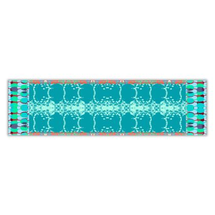 Teal Teasel Table Runner