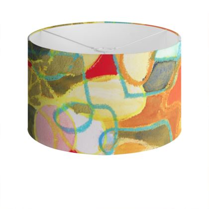 Pebble Mosaic Drum Lamp Shade