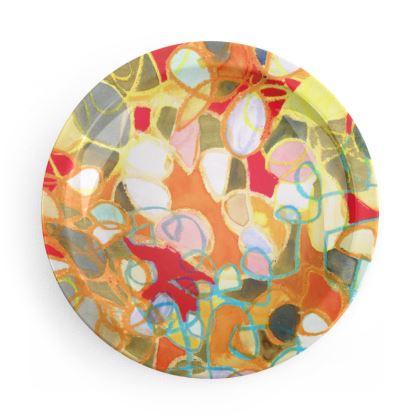 Pebble Mosaic Party Plates