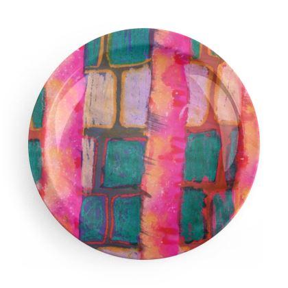 Blocks & Stripes Party Plate