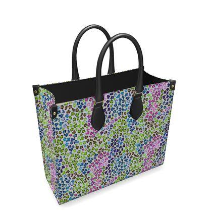 Leopard Skin Multicoloured Collection Leather Shopper Bag