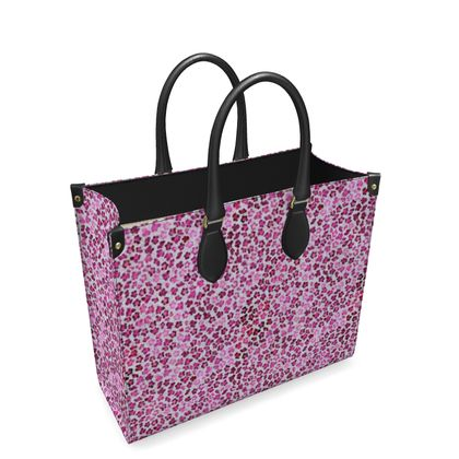 Leopard Skin in Magenta Collection Leather Shopper Bag