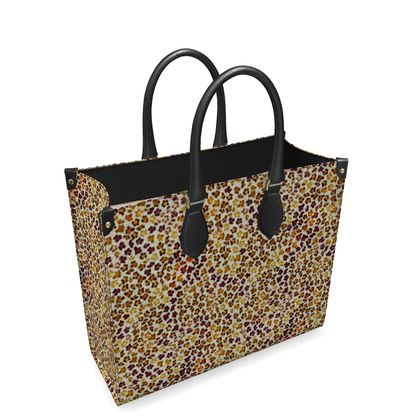 Leopard Skin Collection Leather Shopper Bag