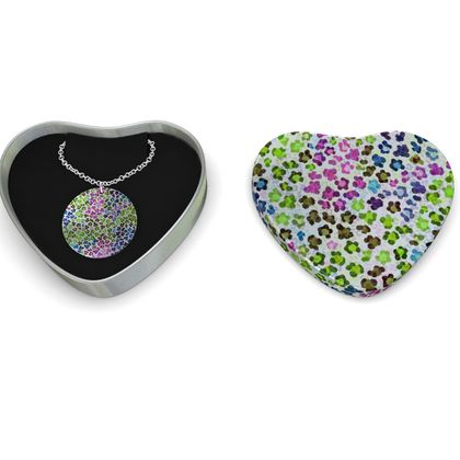 Leopard Skin Multicoloured Collection Sterling Silver Necklace