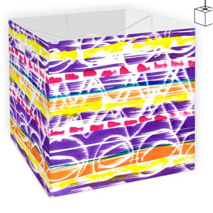 Zigzag Lines Square Lamp Shade