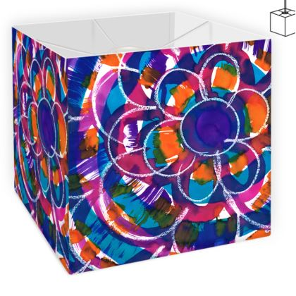 Expressive Floral Square Lamp Shade