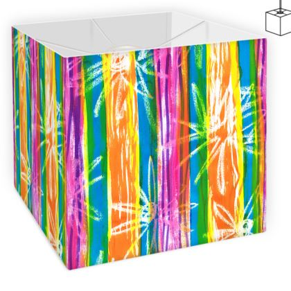 Rainbow Stripes Square Lamp Shade