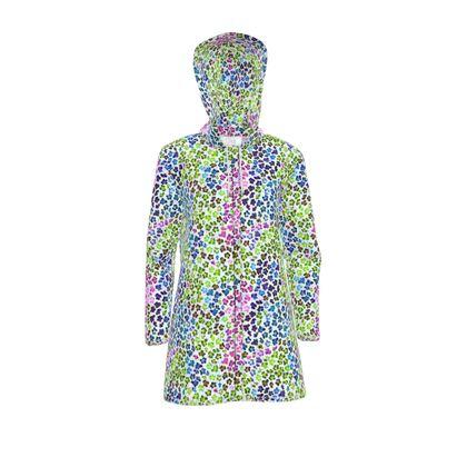 Leopard Skin Multicoloured Collection Womens Hooded Rain Mac