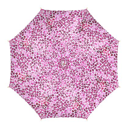 Leopard Skin in Magenta Collection Umbrella