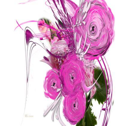 Big Trays - Stora Brickor - Pink Summer Fantasy White