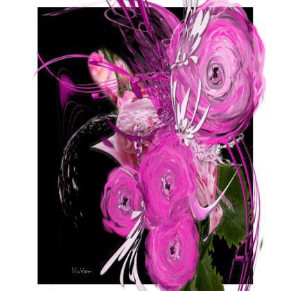 Big Trays - Stora Brickor -  Pink Summer Fantasy Black